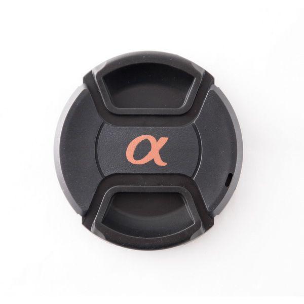 Крышка объектива с логотипом Sony Alpha (α)