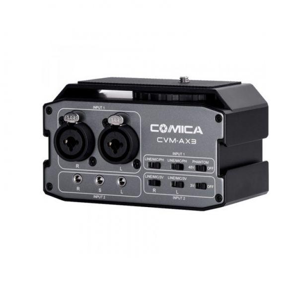 Двухканальный аудиомикшер Comica CVM-AX3 Dual-Channel Audio Mixer
