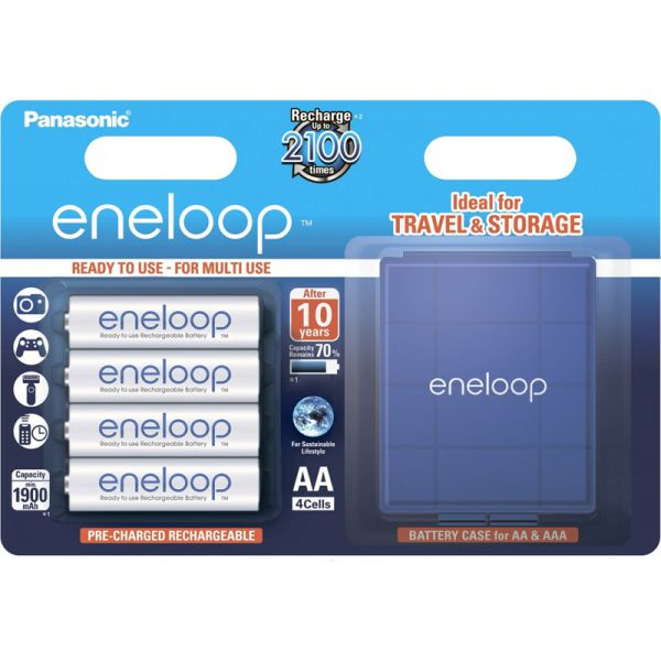 Аккумуляторы Panasonic Eneloop 2000mah Ni-MH AA BK-3MCCEC4BE