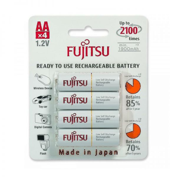 Аккумуляторы Fujitsu AA 2000 мАч, 4 шт HR-3UTCEU(4B)