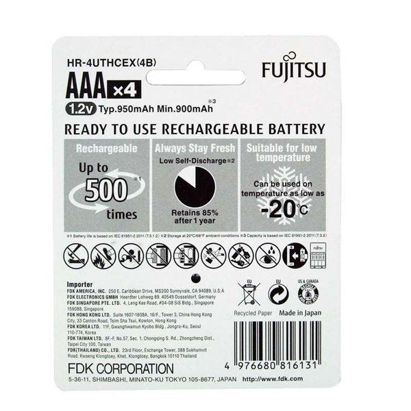 Аккумуляторы Fujitsu 950mah Ni-MH AAA HR-4UTHCEU(4B)