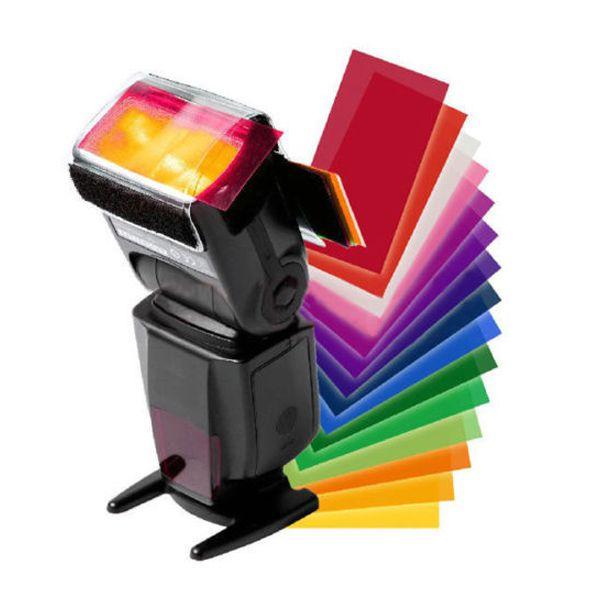 Набор цветных гелевых фильтров для вспышки 4,6x8см 12шт