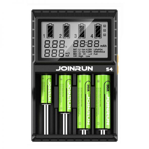 Зарядное устрйоство Joinrun S4 для аккумуляторов AA и литий-ионных