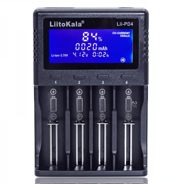 Зарядное устройство LiitoKala Lii-PD4 для аккумуляторов AA и литий-ионных