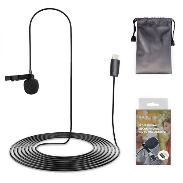 Петличный микрофон Mcoplus LVTC200 Type C (кабель 2 метра)